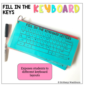 Fill in the Keyboards UNPLUGGED Task Cards