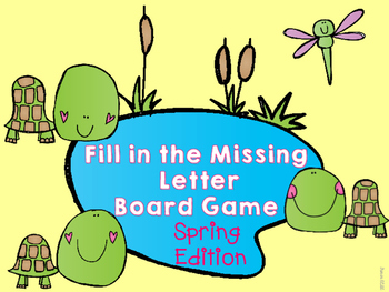 Fill in the Missing Letter Game Spring Edition
