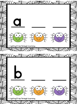 Fill in the Missing Letter Spider Activity
