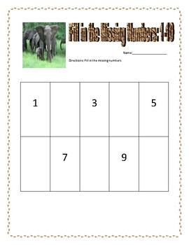 Fill in the Missing Number (Jungle Themed)