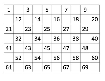 Fill in the Missing Number - Math Center