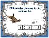 Fill in the Missing Numbers 1 to 10 Shark Version