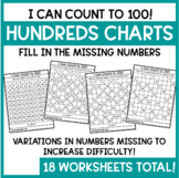 Hundreds Charts - Fill in the Missing Numbers!