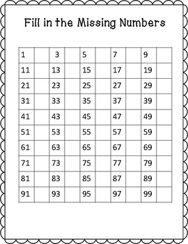 Fill in the Missing Numbers to 100