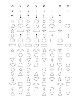 Fill in the Missing Shape Pattern Sheet (19 Rows)