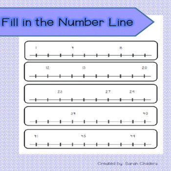Fill in the Number Line