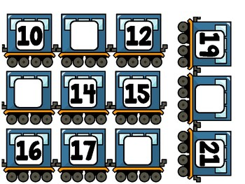 Fill-in the Number Train (1-100)