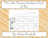 Fill in the Numbers 1-30 Complete Pack