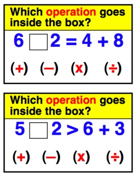 Fill in the Operation Practice Cards