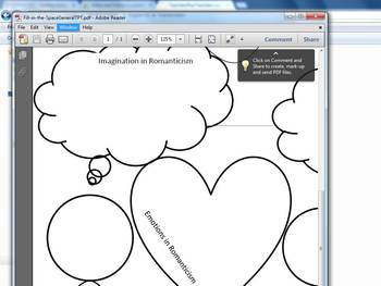 Fill-in-the-Space Activity on Romanticism