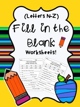 Fill in the blank: Letters N-Z