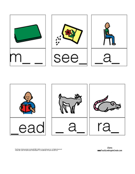 Fill in the blank - Reading Mastery K Lessons 1-60
