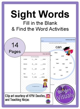 Fill in the blank Sight Words