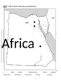 Fill in the blank ancient Egypt map