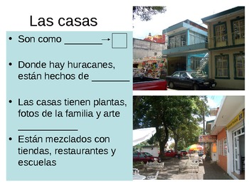 Fill in the blank cloze notes for Mexico PowerPoint