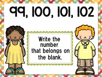Fill in the blank up to 100 (Early Finisher PPT)