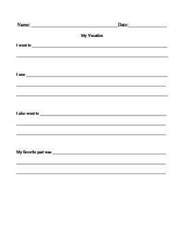 Fill in the blank writing prompts
