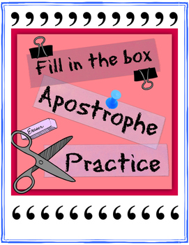 Fill in the box apostrophe practice