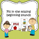 Beginning Sounds Fill in the missing letter beginning soun