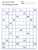 Missing number, 120 Chart