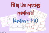 Fill in the missing number! (PRINT AND GO/PERFECT FOR ROTATIONS)