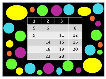 Fill in the number-White crayon for top row
