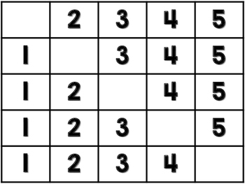 Fill in the number Strip