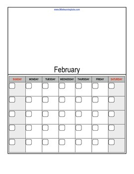 Fill in your own calendars blank 1-page calendars for each month