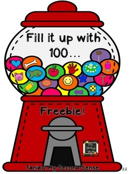 Fill it Up with 100 ...  {Freebie}