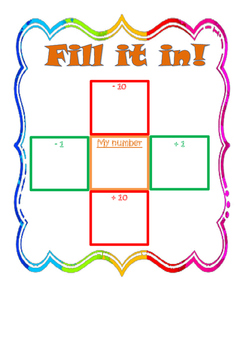 Fill it in number game