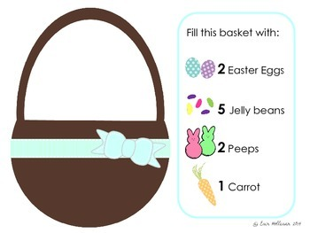 Easter Counting and Visual Discrimination - Fill the Easter Basket