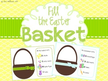 Easter Counting and Visual Discrimination - Fill the Easte
