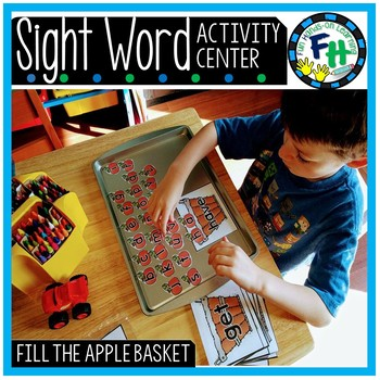 Sight Word Center {Fill the Apple Basket}