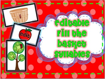 "Syllables Apple ""Fill the Basket"" Game"