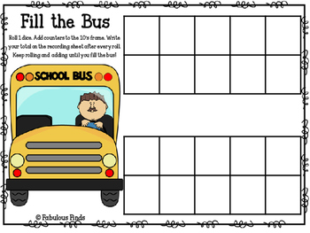Fill the Bus Tens Frame