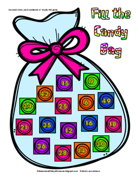 Fill the Candy Bag A Multiplication Game