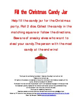 Fill the Candy Jar- Christmas (open-ended game)