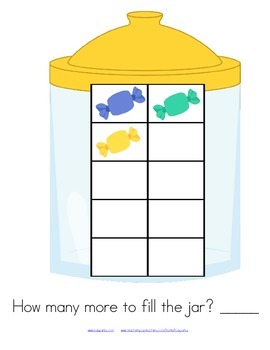 3 Math Counting Centers - Candy 10-Frames and Decomposing Combinations of 10