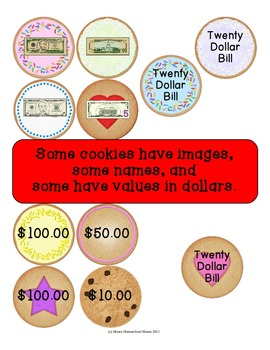 Fill the Cookie Jar Paper Money Recognition Game