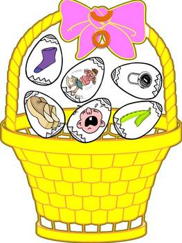Fill the Easter Basket - a cvc, ccvc, cvcc word reading game