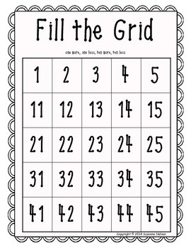 Fill the Grid on a Chunk of the 120 Chart