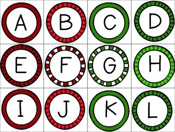 Fill the Stocking ABC Game Freebie