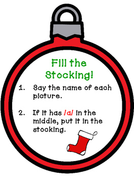 Fill the Stocking! - Medial Short Vowel Sorts