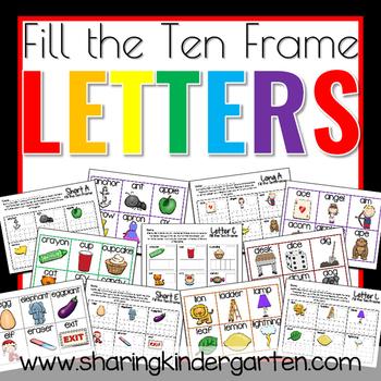 Fill the Ten Frame Letters