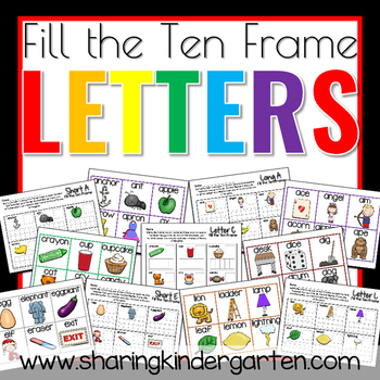 Fill the Ten Frame Letters