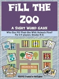Sight Word Games - Fill the Zoo