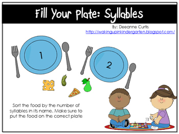 Fill your Plate-Syllables