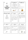 Filled Fingerprint Cookies Recipe Cards