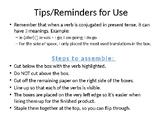 Filled-In Verb Flipbook- Top 6 Irregular Verbs