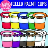 Filled Paint Cups {Clip Art for Teachers}